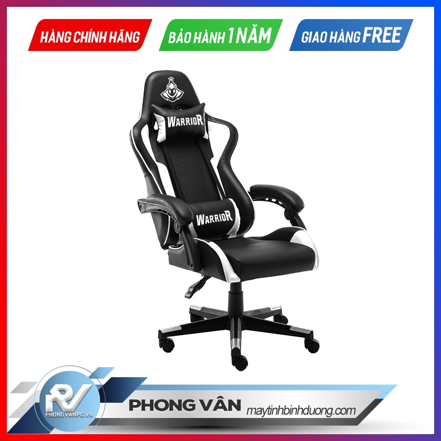 Ghế gamer Warrior Crusader Black/White (WGC102)