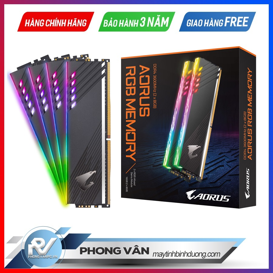 Ram AORUS RGB Memory 16GB (2x8GB) 3600MHz (With Demo Kit)