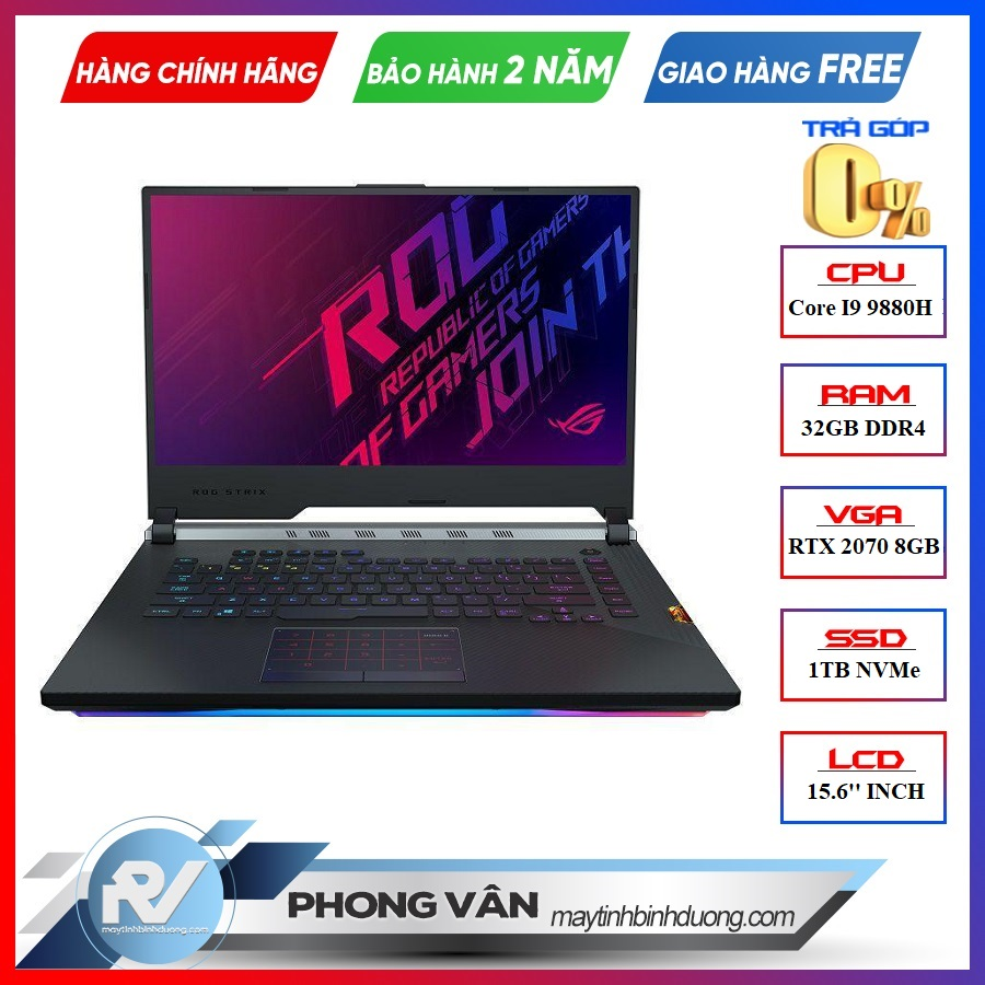 LAPTOP ASUS GAMING ROG STRIX SCAR III G531GW-AZ082R GEFORCE RTX 2070 8GB INTEL CORE I9 9880H 32GB 1TB 15.6″ FHD IPS 240HZ 3MS PERKEY RGB WIN 10