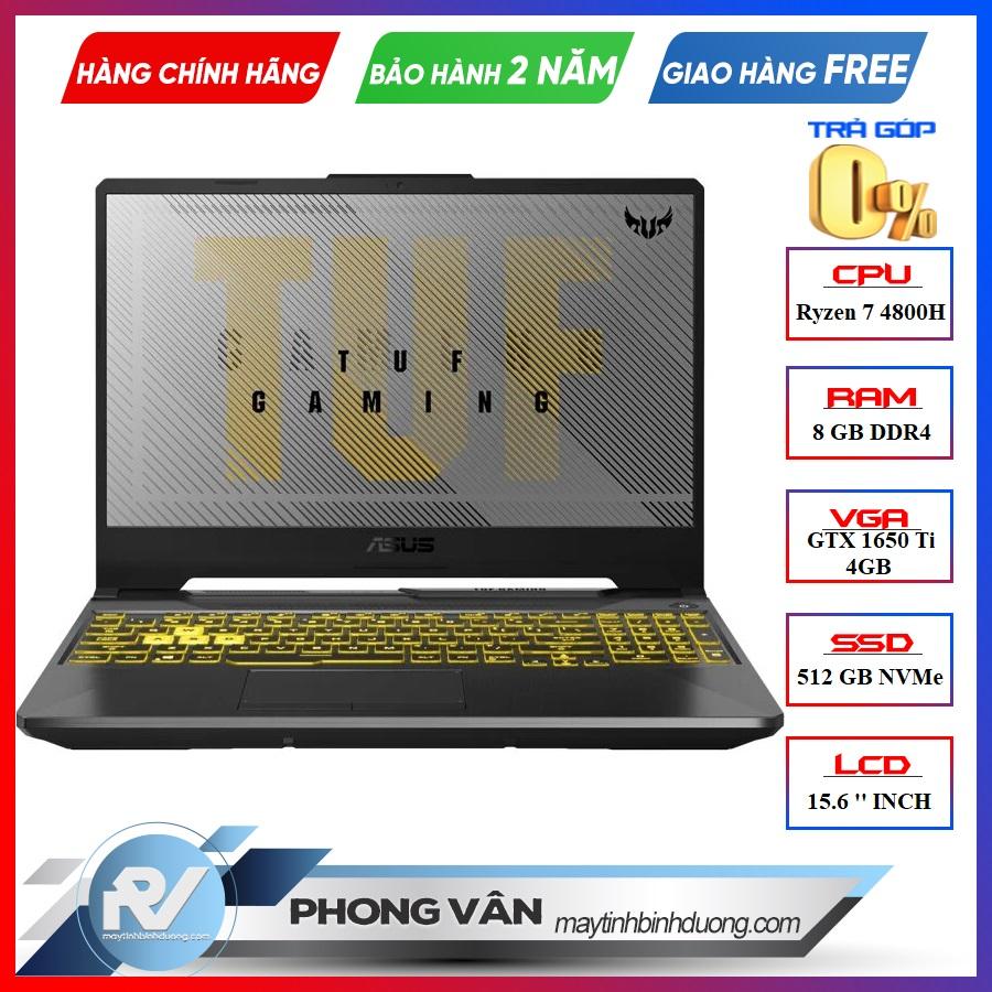 LAPTOP ASUS TUF A15 GAMING FA506II- AL016T RYZEN 7-4800H | GTX 1650TI | 8GB RAM | 512GB SSD | 15.6″ FHD 144HZ | WIN10