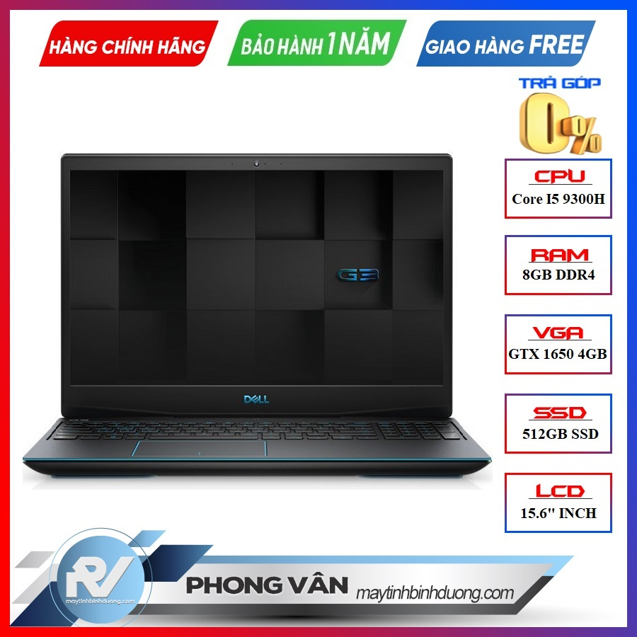 LAPTOP DELL GAMING G3 INSPIRON 3590 N515518W GTX 1650 4GB INTEL CORE I5 9300H 512GB SSD 8GB 15.6 FHD IPS 144HZ WIN 10