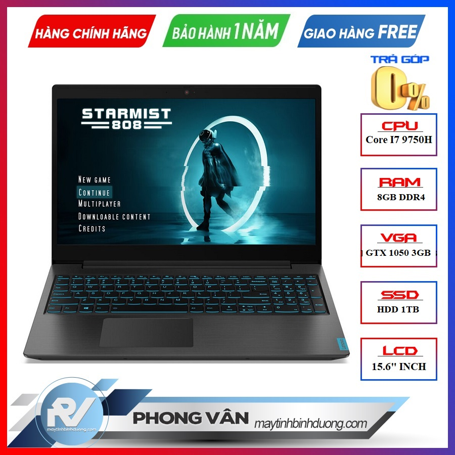 LAPTOP LENOVO IDEAPAD L340 15IRH GAMING 81LK00FBVN i7 9750H | GTX 1050 3GB | 8GB RAM | 1TB HDD | WIN 10