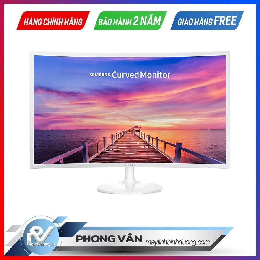 Màn hình Samsung LC32F391FWEXXV 32″ FullHD FreeSync (Mh cong,1800R , trắng , chân tròn. FHD ,60hz ,4ms)