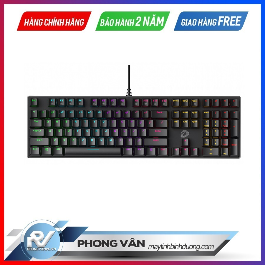 Bàn phím cơ Gaming DAREU EK810 - Black (MULTI-LED, Blue/ Brown/ Red D switch)
