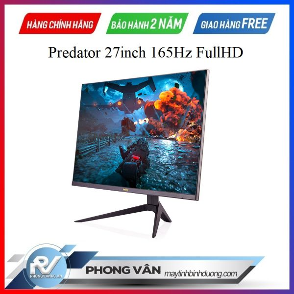 """Panel Samsung VA 165Hz Flat phẳng . + 27"""" Inch , Res Full HD / 2K ( for Predator Ultra model ) . + Moving Picture Response Time : Ultra fast 1ms . + NTSC 72% standard with 16.7M color . + Frameless Gaming design , adjustable Gaming Stand . + Viewing Angle : 178/178 degree . + Support : AMD Freesync, compatible Nvidia Gsync by firmware . + Low Blue Light available . Cứu tinh của đôi mắt ."""