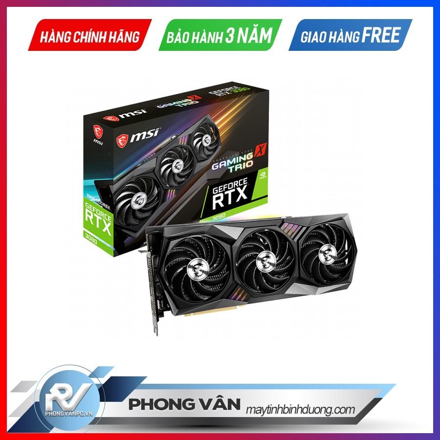 Card màn hình MSI RTX 3080 GAMING TRIO 10G