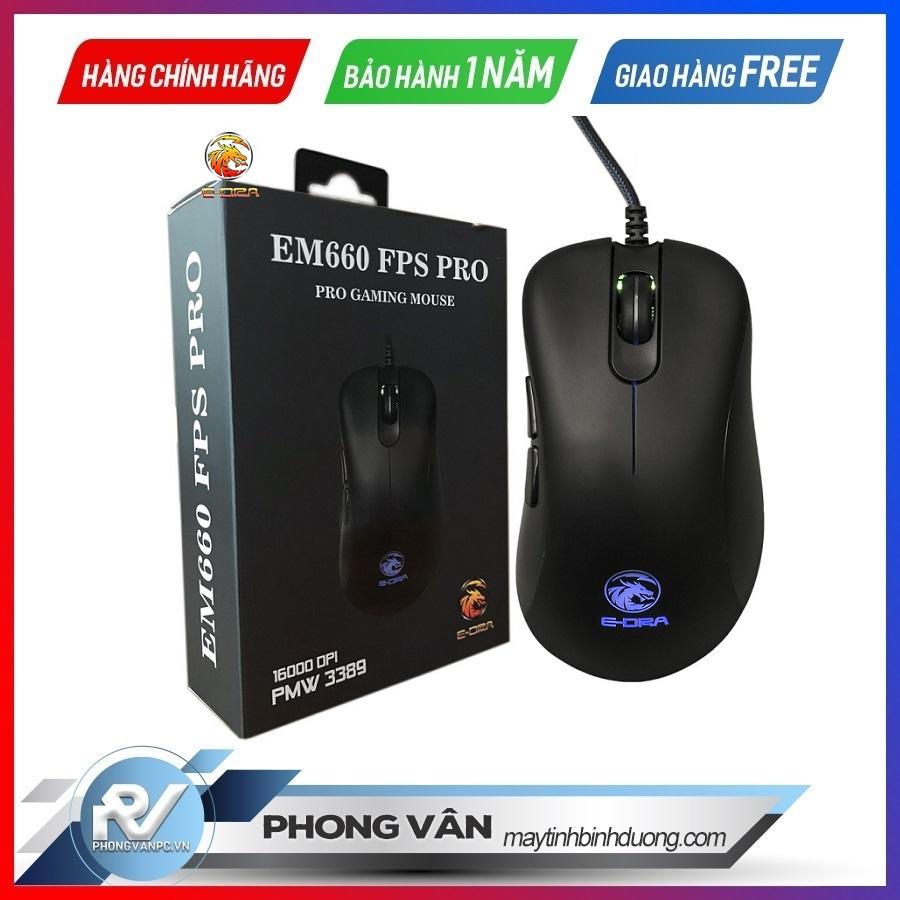 Chuột gaming E-Dra EM660 Pro FPS (USB/RGB/Đen)