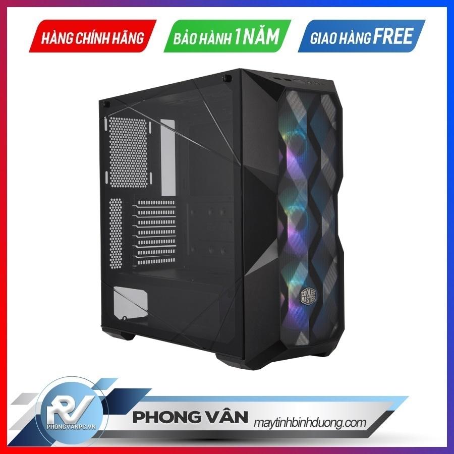 Vỏ Case Cooler Master MasterBox TD500TG Mesh ARGB (Mid Tower/Màu đen/Led ARGB/Mặt lưới)