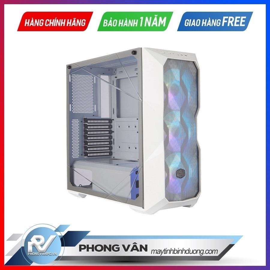 Vỏ Case Cooler Master MasterBox TD500TG Mesh White ARGB (Mid Tower/Màu trắng/Led ARGB/Mặt lưới)