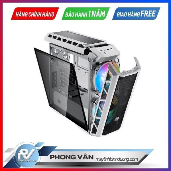 Vỏ Case Cooler Master MasterCase H500P TG Mesh White ARGB (Mid Tower/Màu trắng/Led ARGB/Mặt lưới)