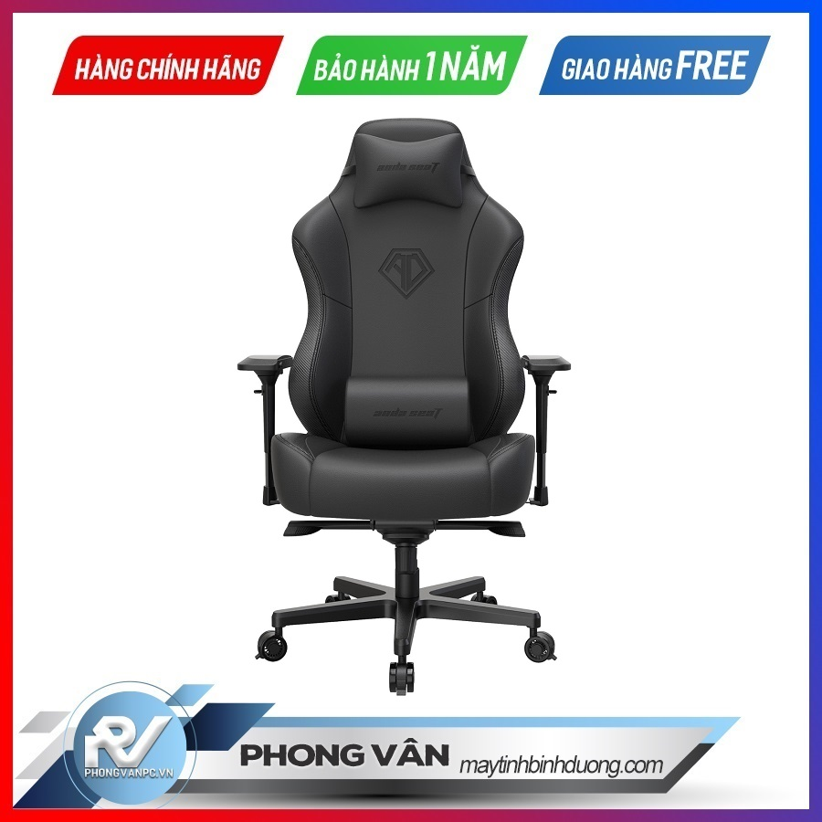 Ghế gamer Anda Seat Sapphire King Black - Full PVC Leather 4D Armrest Kingsize Gaming Chair with Z base