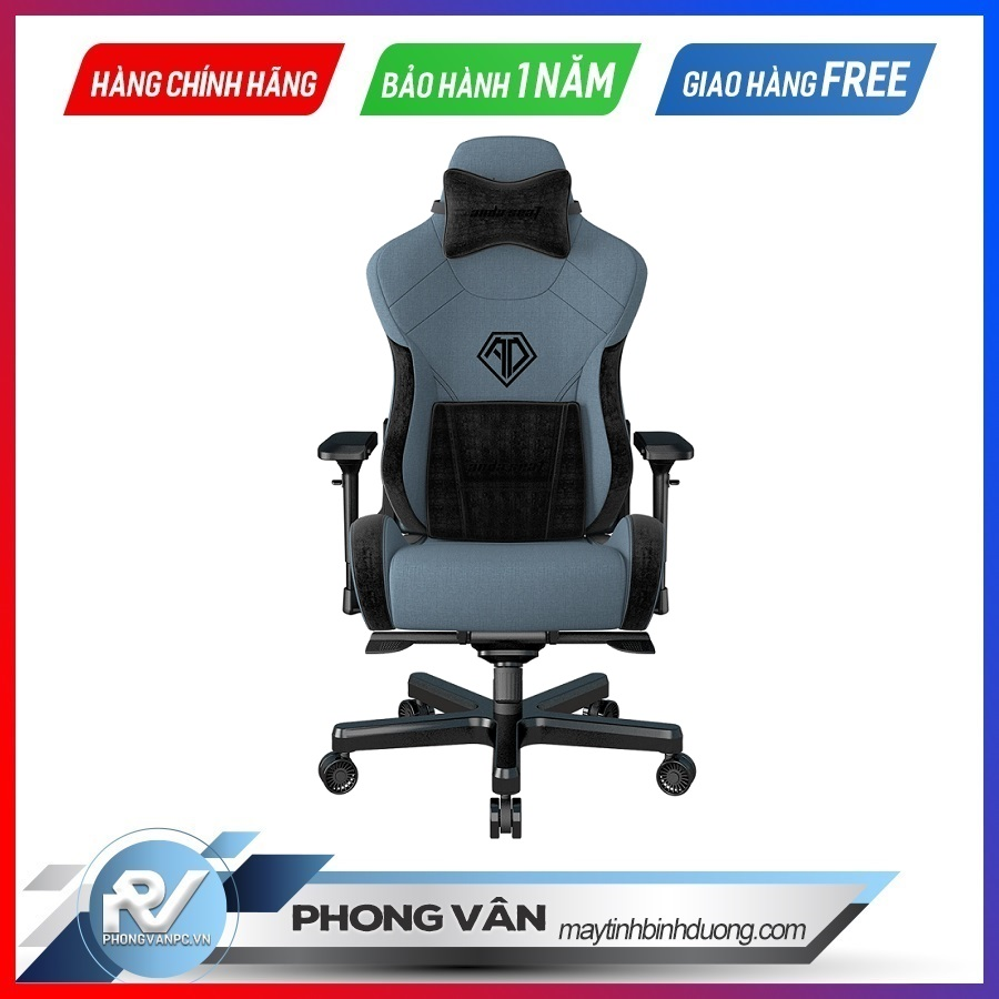 Andaseat T-Pro 2 Smooth Line Fabric Gaming Chair blue1