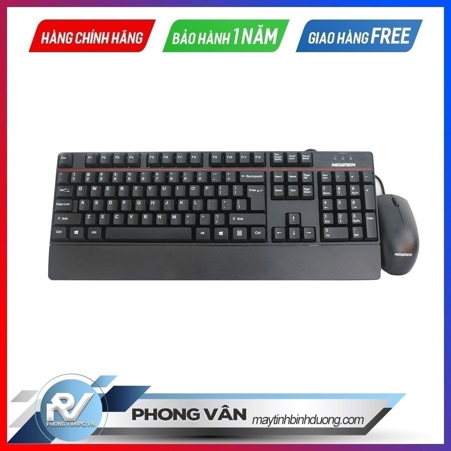 Bộ bàn phím chuột Newmen T260 USB Đen Black