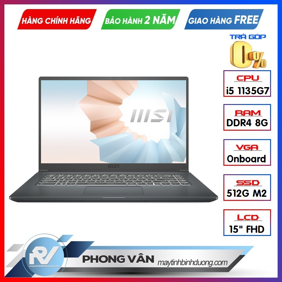 Laptop MSI Modern 15 A11M 200VN Grey