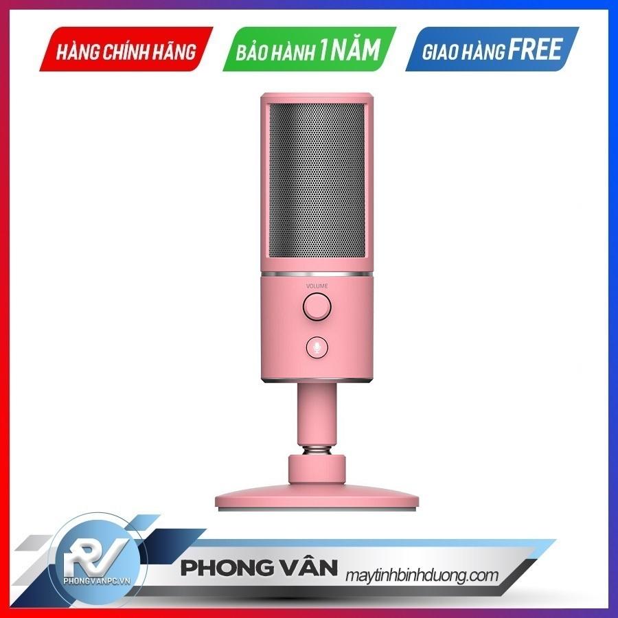 Microphone Razer Seiren X Quartz Pink Edition
