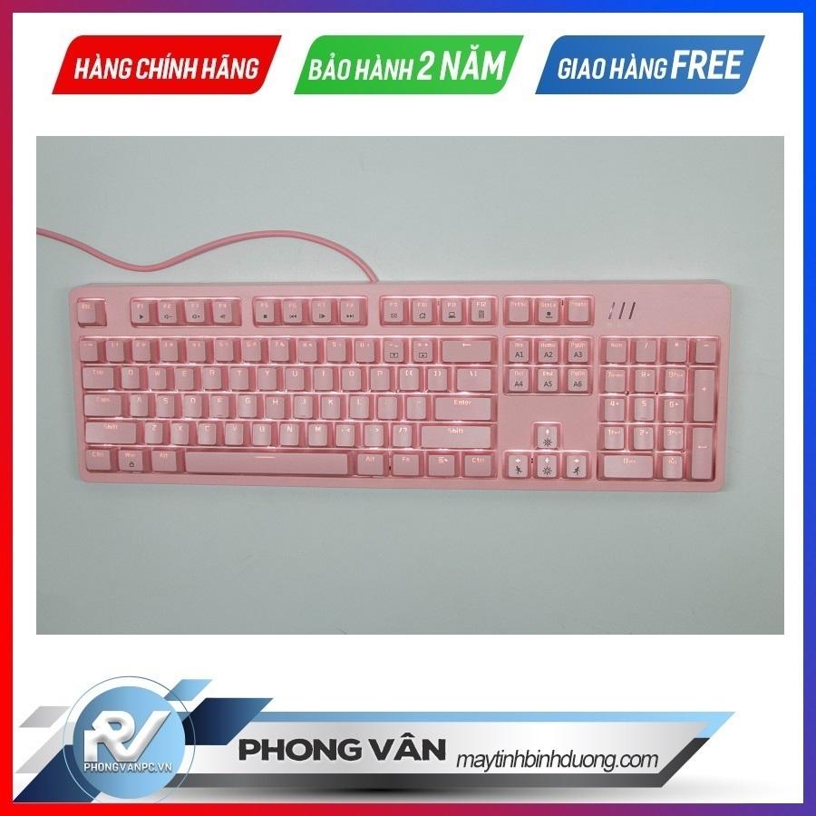 Bàn phím cơ AJAZZ DKM150 RGB Red switch pink