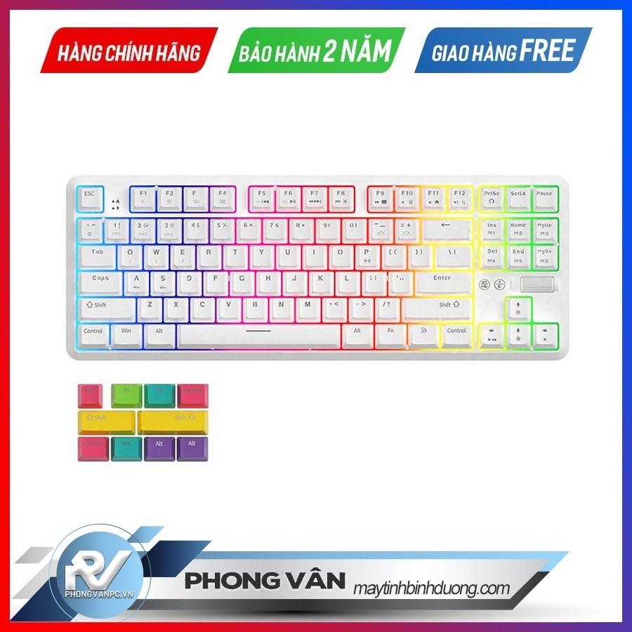 Bàn-phím-cơ-AJAZZ-K870T-Bluetooth-Blue-switch-White
