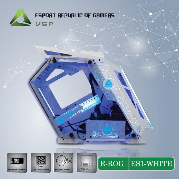 Case E-ROG ES1 White Gaming