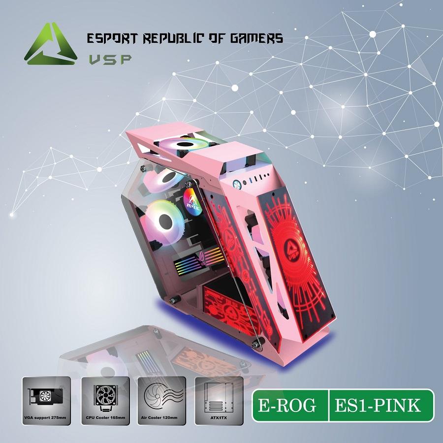 Case E-ROG ES1 Pink Gaming