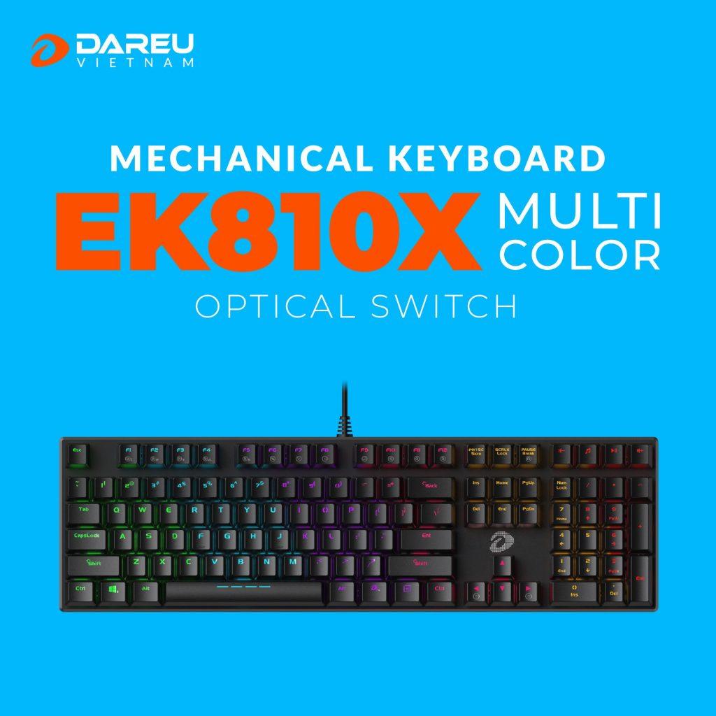 bàn phím cơ gaming dareu ek810x